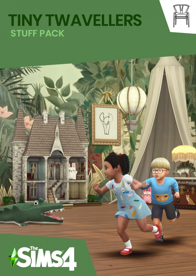 Sims 4 TINY TWAVELLERS 67 pieces CC stuff pack at Harrie