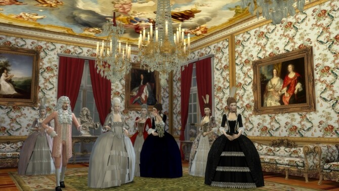 Sims 4 Historical Living Set For TS4 at Regal Sims