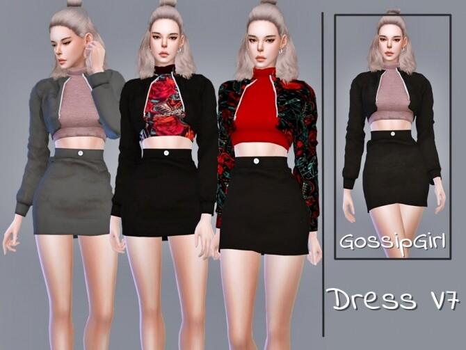 Sims 4 Dress V7 Created  GossipGirl S4 at TSR