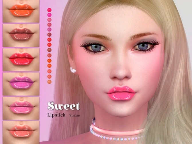 Sims 4 Sweet Lipstick by Suzue at TSR