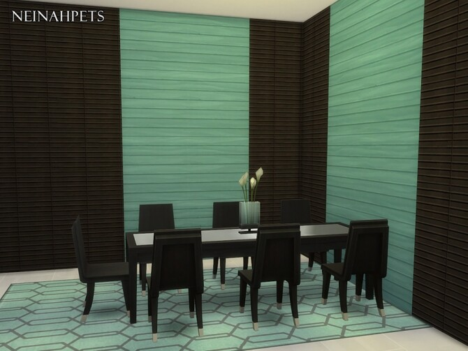Anquine Panel Wall by neinahpets at TSR image 2226 670x503 Sims 4 Updates