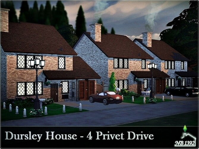 Sims 4 Dursley House 4 Privet Drive by nobody1392 at TSR