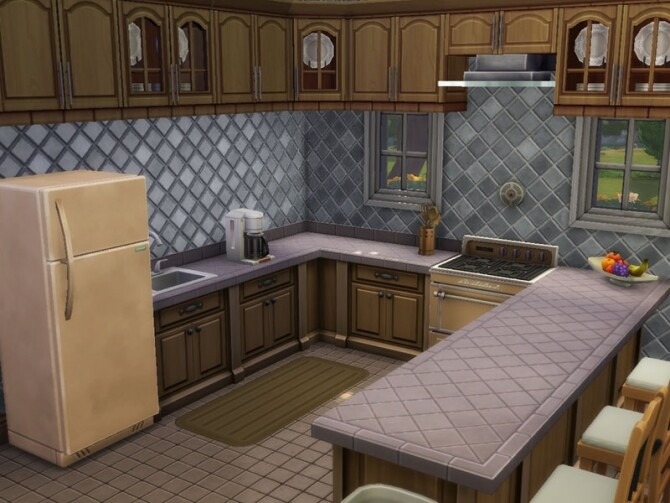 Sims 4 1940s Colonial Family Home by vmr394 at TSR