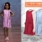 Button Pocket Dress Child Conversion