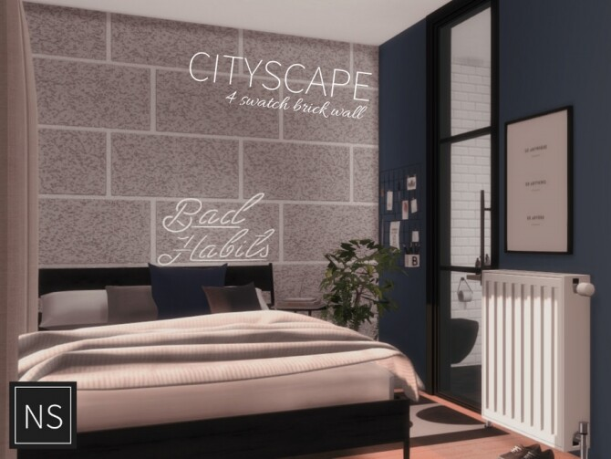 Sims 4 Cityscape Walls by Networksims at TSR