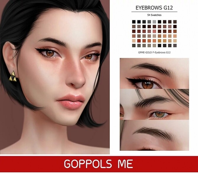 GPME GOLD F Eyebrows G12 at GOPPOLS Me image 2321 670x592 Sims 4 Updates