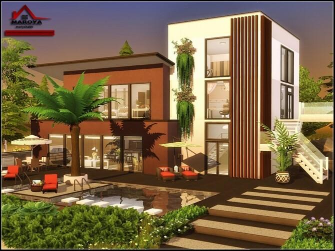 Sims 4 Maroya house No CC by marychabb at TSR