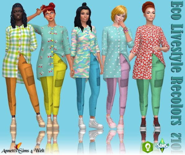 Eco Lifestyle Outfit Recolors