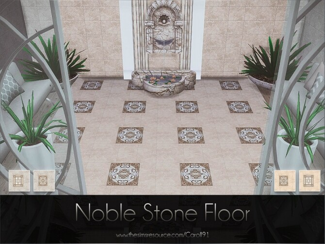 Sims 4 Noble Stone Floor by Caroll91 at TSR