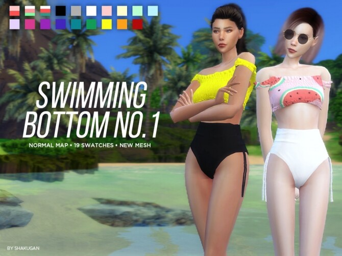Sims 4 Swimming Top and Bottom by Alexa Catt at TSR