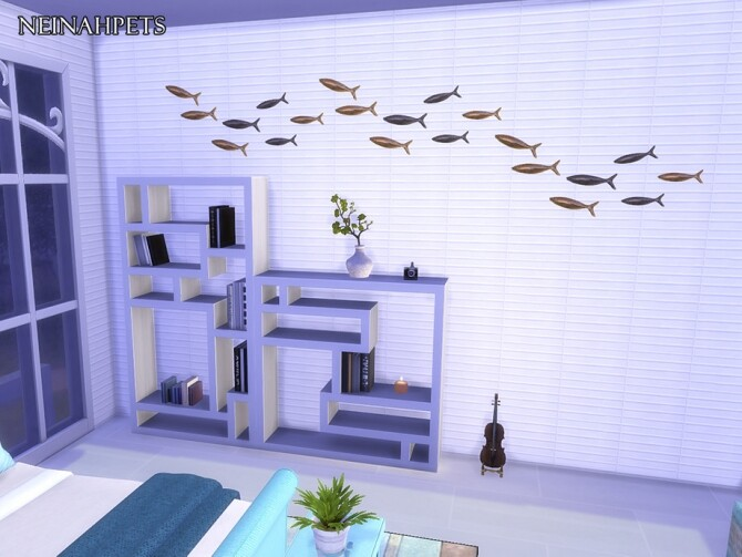 Anquine Panel Wall by neinahpets at TSR image 2424 670x503 Sims 4 Updates