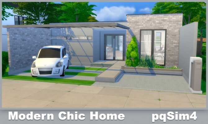 Sims 4 Modern Chic Home at pqSims4