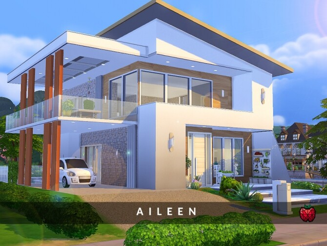 Sims 4 Aileen house no cc by melapples at TSR