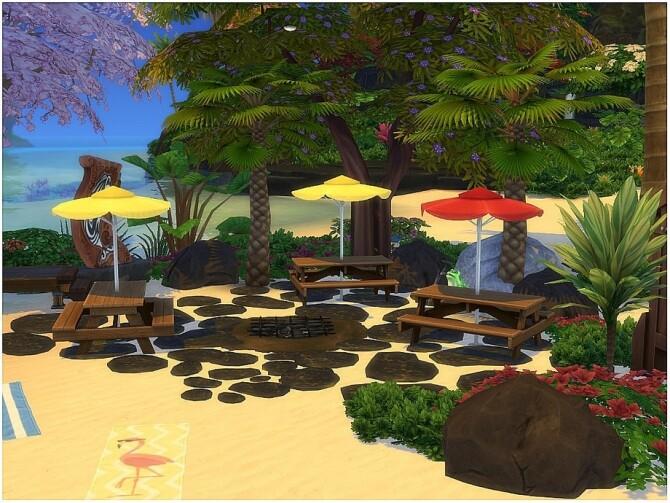 Sims 4 Blue Sand Beach by lotsbymanal at TSR