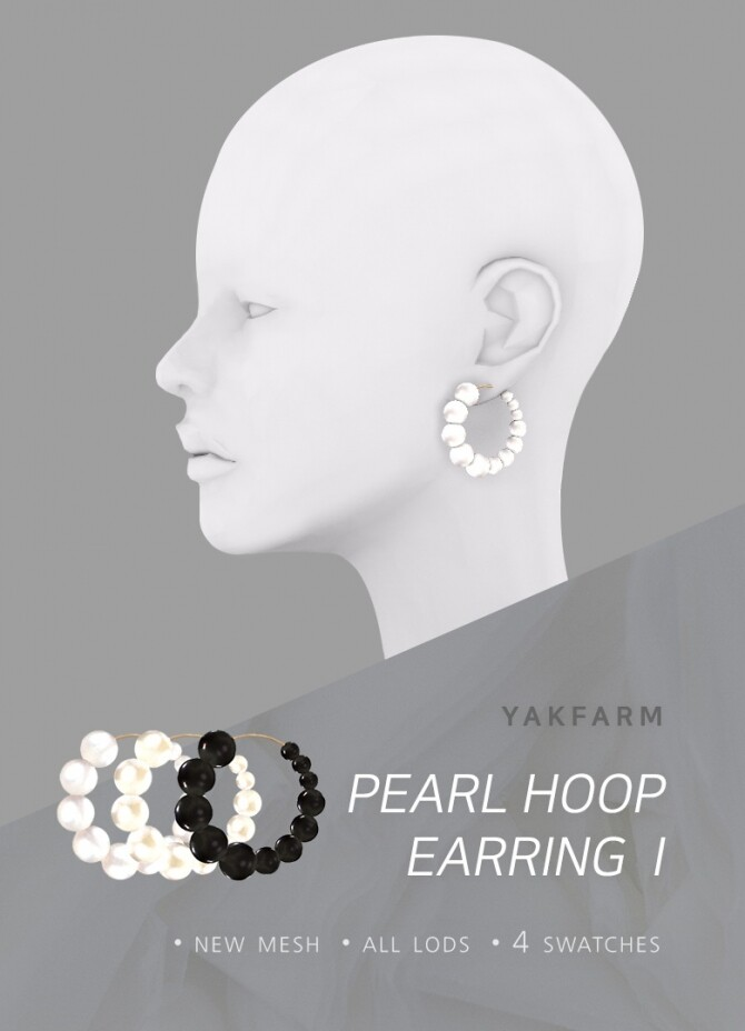 Pearl Hoop Earrings Set at Yakfarm image 2532 670x928 Sims 4 Updates