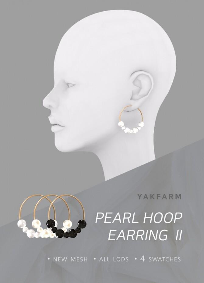 Pearl Hoop Earrings Set at Yakfarm image 2542 670x928 Sims 4 Updates