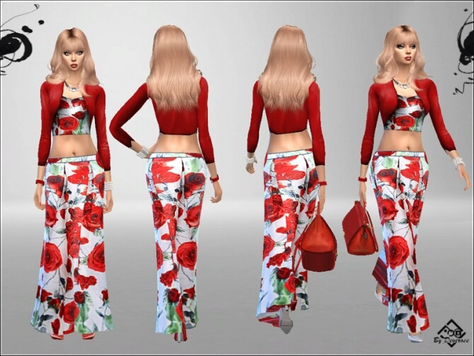 Sims 4 Sweet Spring Set by Devirose at TSR