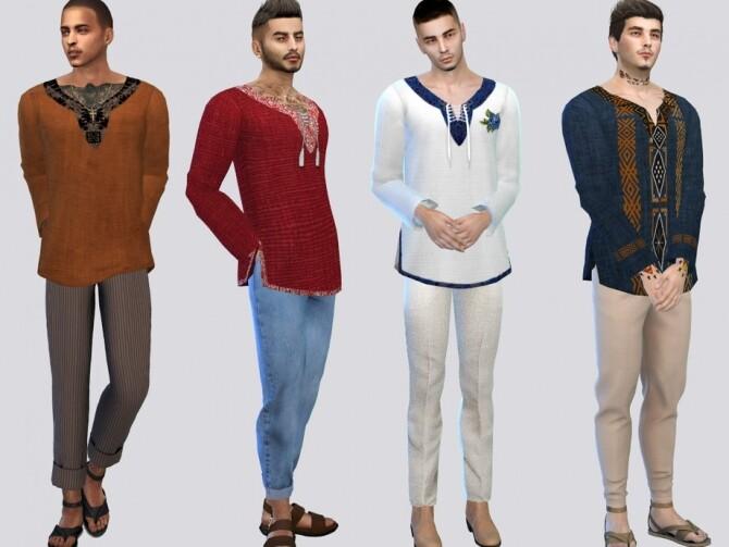 Sims 4 Montecarlo Shirt by McLayneSims at TSR