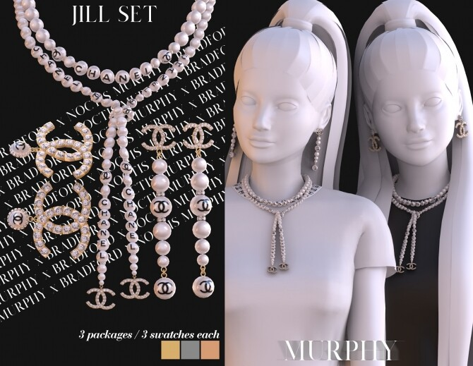 Jill Set: earrings and necklace by Silence Bradford at MURPHY image 2641 670x519 Sims 4 Updates