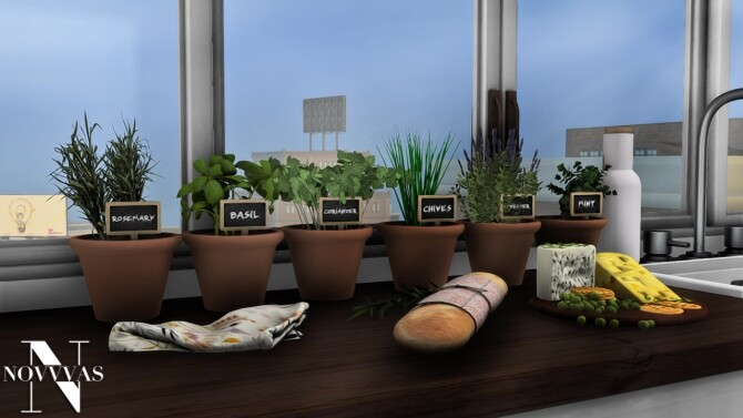 POTTED HERB GARDEN at Novvvas image 2651 670x377 Sims 4 Updates