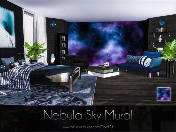 Sims 4 Nebula Sky Mural by Caroll91 at TSR