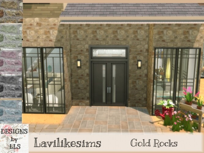 Gold Rocks wall by lavilikesims