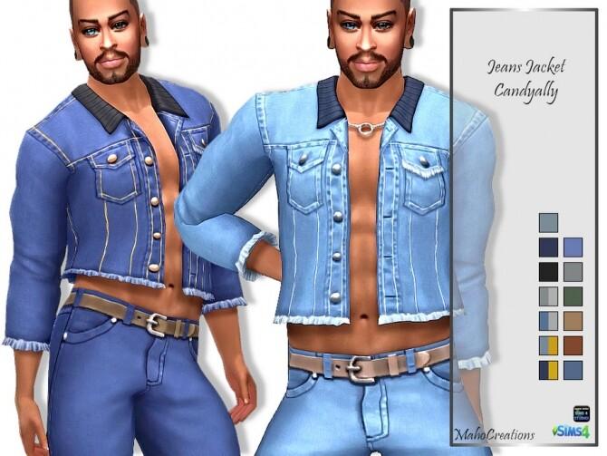 Sims 4 Jeans Jacket Candyally by MahoCreations at TSR