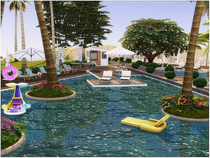 Sims 4 INFINITY POOL by lotsbymanal at TSR