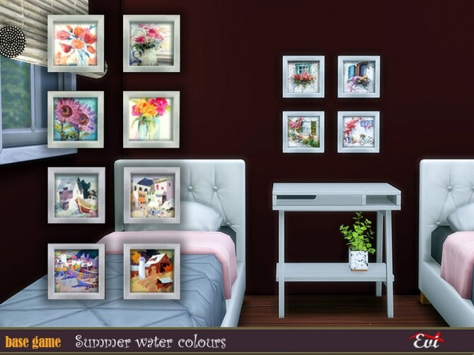 Sims 4 Summer watercolours by evi at TSR