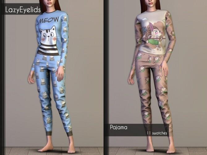 Matching pajamas recolors at LazyEyelids image 2923 670x503 Sims 4 Updates
