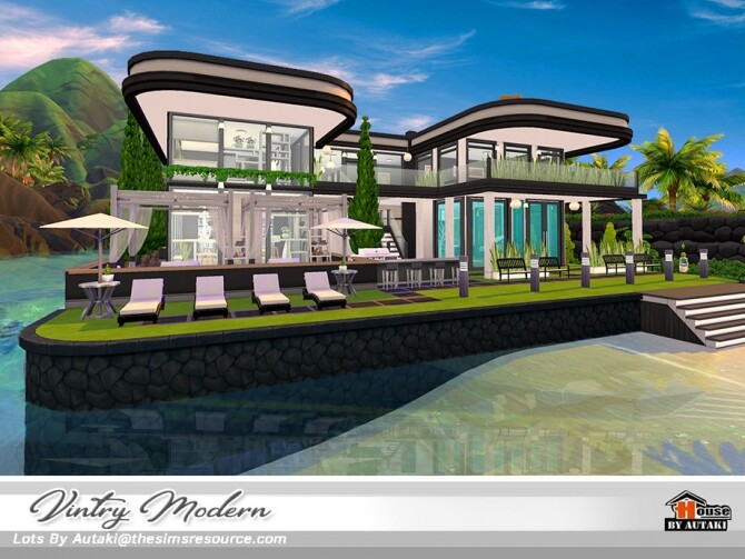 Sims 4 Vintry Modern home by autaki at TSR