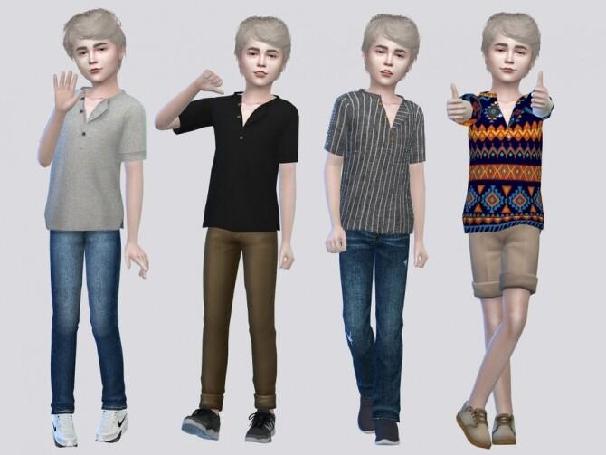 Sims 4 Balram Shirt Kids by McLayneSims at TSR