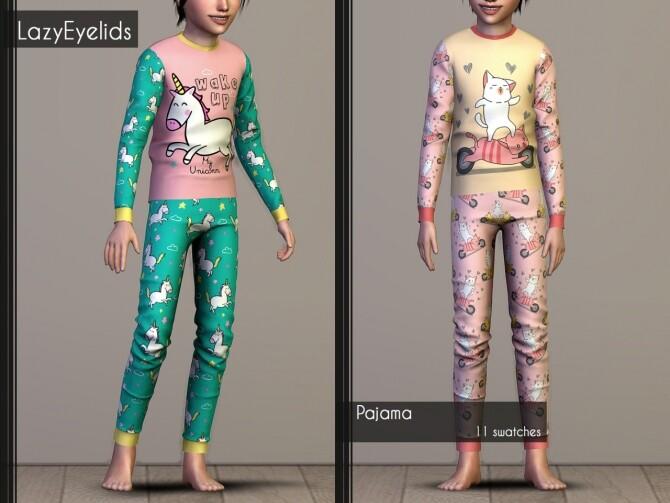Matching pajamas recolors at LazyEyelids image 3023 670x503 Sims 4 Updates