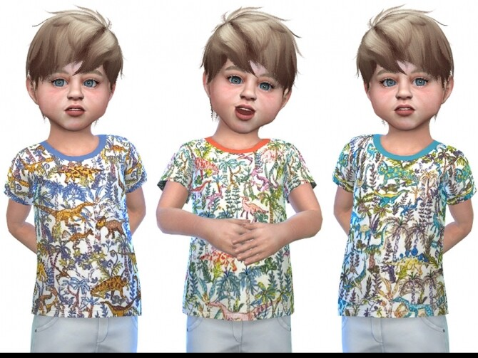 Sims 4 T shirt for Toddler Boys 02 by Little Things at TSR