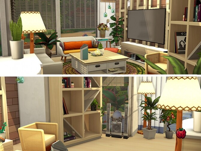 Sims 4 Calum house no cc by melapples at TSR