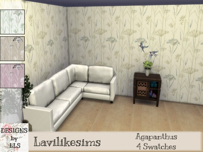 Agapanthus wallpaper by lavilikesims at TSR image 312 670x503 Sims 4 Updates