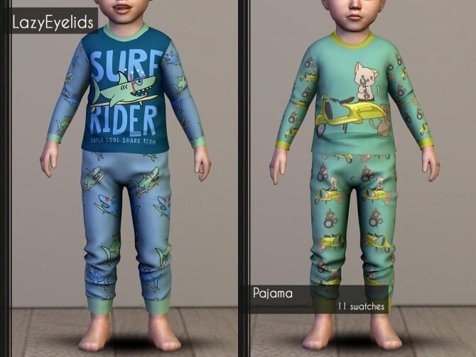 Matching pajamas recolors at LazyEyelids image 3128 670x503 Sims 4 Updates