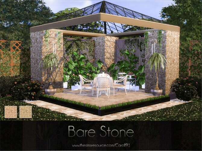 Bare Stone wall by Caroll91 at TSR image 321 670x503 Sims 4 Updates