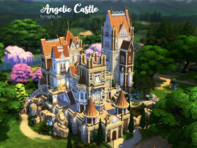 Sims 4 Angelic Castle by VirtualFairytales at TSR