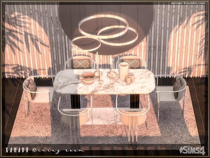 Xanadu Dining room by Winner9 at TSR image 3218 670x503 Sims 4 Updates