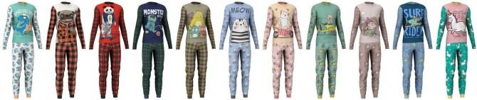 Matching pajamas recolors at LazyEyelids image 3225 670x141 Sims 4 Updates