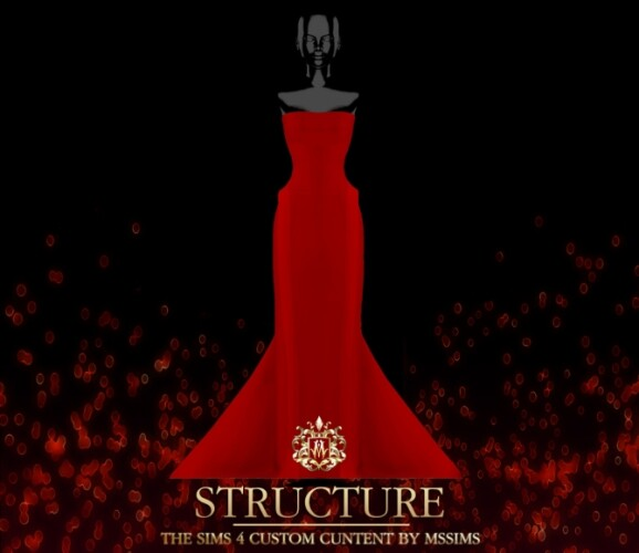 STRUCTURE GOWN SIMS 4