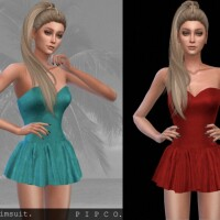 Lily swimsuit with skirt by Pipco