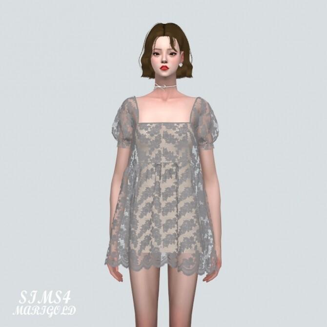 See through Lace Mini Dress at Marigold image 38 670x670 Sims 4 Updates