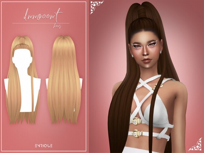 Sims 4 Innocent Hairstyle by EnriqueS4 at TSR