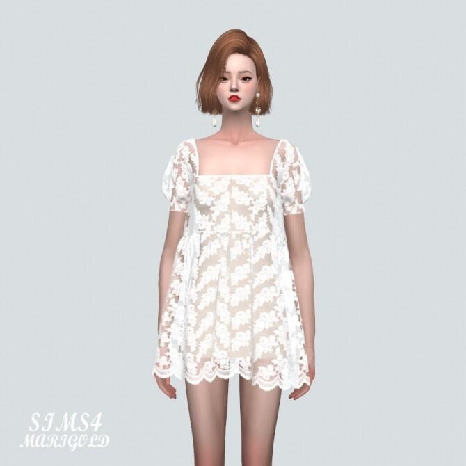 See through Lace Mini Dress at Marigold image 40 670x670 Sims 4 Updates
