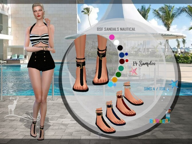 DSF SANDALS NAUTICAL by DanSimsFantasy at TSR image 4013 670x503 Sims 4 Updates