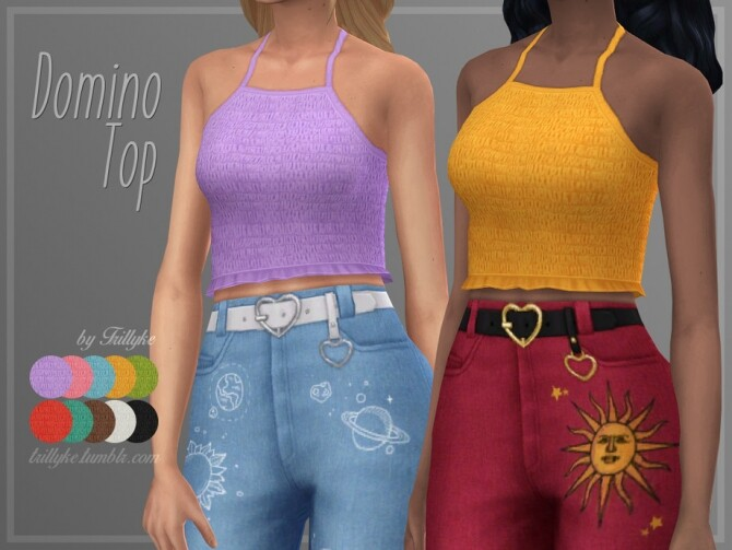 Sims 4 Domino Top by Trillyke at TSR