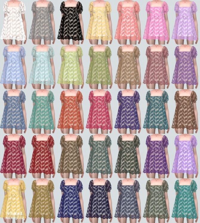 See through Lace Mini Dress at Marigold image 41 670x747 Sims 4 Updates