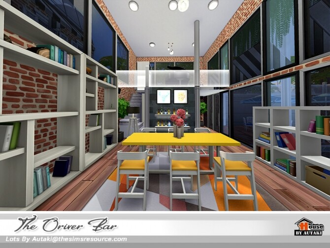 Sims 4 The Oriver Bar NoCC by autaki at TSR